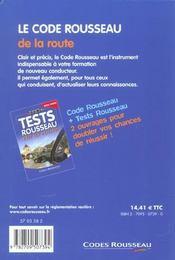 Code Rousseau De La Route 2003 - 4ème de couverture - Format classique