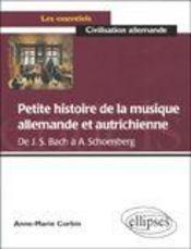 Petite Histoire De La Musique Allemande Et Autrichienne De J.S.Bach A A.Schoenberg - Intérieur - Format classique