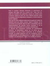 Petite Histoire De La Musique Allemande Et Autrichienne De J.S.Bach A A.Schoenberg - 4ème de couverture - Format classique