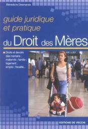 Guide Juridique Des Droits Des Meres - Couverture - Format classique