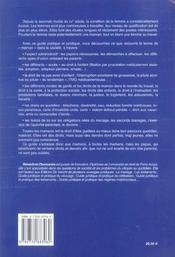 Guide Juridique Des Droits Des Meres - 4ème de couverture - Format classique