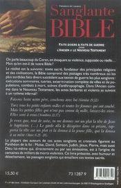 Sanglante bible ; faits divers et faits de guerre dans l'ancien et le nouveau testament - 4ème de couverture - Format classique