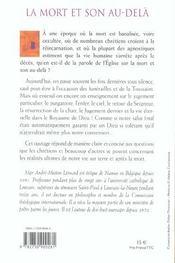 La mort et son au-dela perspectives chretiennes - 4ème de couverture - Format classique