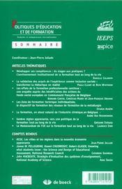 Politique D'Education Et De Formation N.7 ; La Formation Tout Au Long De La Vie: La Contribution Du Secteur Privé - 4ème de couverture - Format classique