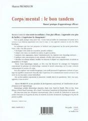 Corps / mental : le bon tandem - 4ème de couverture - Format classique