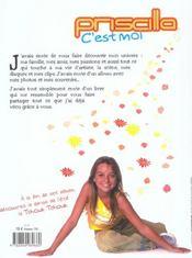 Priscilla, C'Est Moi ; Mon Album Intime - 4ème de couverture - Format classique