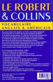 Robert & collins voc angl amer - 4ème de couverture - Format classique