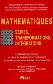 Mathematiques series transformations... - Couverture - Format classique