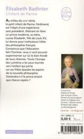 L'infant de Parme - 4ème de couverture - Format classique