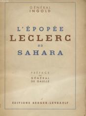 L'Epopee Leclerc Au Sahara - Couverture - Format classique