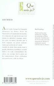 Les mayas (8e édition) (8e édition) - 4ème de couverture - Format classique