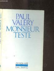 Monsieur Teste - Couverture - Format classique