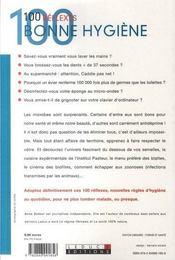 100 reflexes bonne hygiène - 4ème de couverture - Format classique