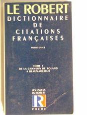 Citations franc.poche t1 - Intérieur - Format classique
