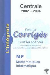Centrale Mp 2002-2004 - Intérieur - Format classique
