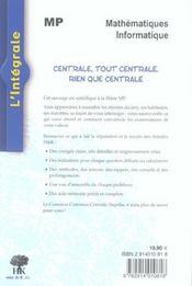 Centrale Mp 2002-2004 - 4ème de couverture - Format classique