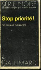 Collection : Serie Noire N° 1484 Stop Priorite ! - Couverture - Format classique