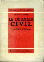 Le Dernier Civil.Romans Etrangers. - Couverture - Format classique