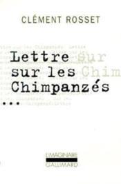 Lettre Sur Les Chimpanzes / Essai Sur Teilhard De Chardin - Couverture - Format classique