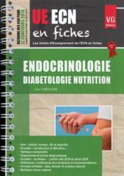 Ue ecn en fiches endocrinologie - Couverture - Format classique