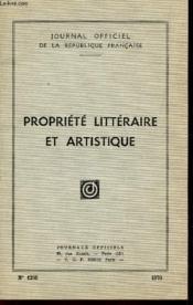 Propriete Litteraire Et Artistique / N°1255 - Annee 1970 / Loi N°57-298 Du 11 Mars 1957 Sur La Propriete Litteraire Et Artistique - Loi N°57-803 Du 19 Juillet 1957 Etc... - Couverture - Format classique
