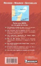 8503: guide neos ; reunion maurice seychelles en francais - 4ème de couverture - Format classique