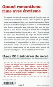 OSEZ ; 20 histoires de coups de foudre sexuels - 4ème de couverture - Format classique