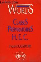 Words Classes Preparatoires Hec Vocabulaire Anglais - Couverture - Format classique