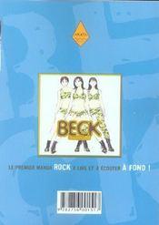 Beck t.11 - 4ème de couverture - Format classique