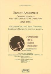 Ernest ansermet, compositeur americain (1923-1966) - Couverture - Format classique