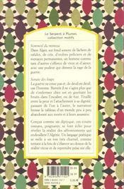 Sommeil du mimosa ; sonate des loups - 4ème de couverture - Format classique