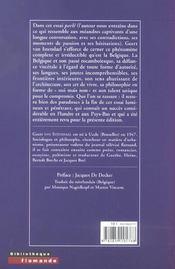 Labyrinthe Belge (Le ) - 4ème de couverture - Format classique
