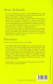 Histoires - 4ème de couverture - Format classique
