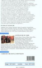 Europe la science fiction n 870 - 4ème de couverture - Format classique