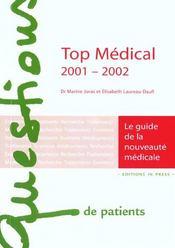 Top medical 2001-2002 - le guide de la nouveaute medicale - Intérieur - Format classique