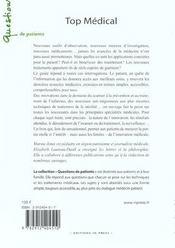 Top medical 2001-2002 - le guide de la nouveaute medicale - 4ème de couverture - Format classique
