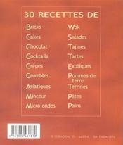 30 recettes de pains - 4ème de couverture - Format classique