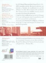 Les grands entretiens de bernard pivot ; jean-francois revel - 4ème de couverture - Format classique