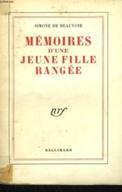 Memoires D'Une Jeune Fille Rangee. - Couverture - Format classique