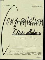 CONFRONTATION Cahiers n°2 L etat cellulaire. - Couverture - Format classique