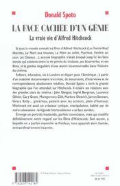 La face cachee d'un genie : la vraie vie d'hitchcock (nouvelle edition) - 4ème de couverture - Format classique