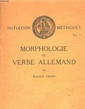 Morphologie Du Verbe Allemand - Couverture - Format classique