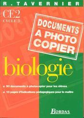 Biologie ; CE2 ; documents à photocopier - Intérieur - Format classique