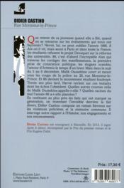 Rue Monsieur-le-Prince - 4ème de couverture - Format classique