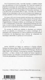 Les Espaces De La Net-Economie ; Clusters Tic Et Amenagement Numerique Des Territoires - 4ème de couverture - Format classique
