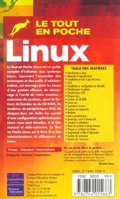 Linux tep - 4ème de couverture - Format classique