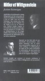 Hitler et Wittgenstein - 4ème de couverture - Format classique