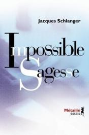 Impossible sagesse - Couverture - Format classique