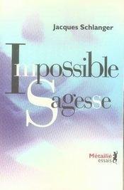 Impossible sagesse - Intérieur - Format classique