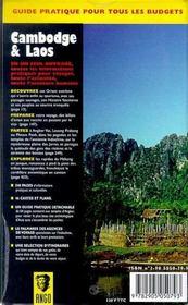 Cambodge - laos - 4ème de couverture - Format classique